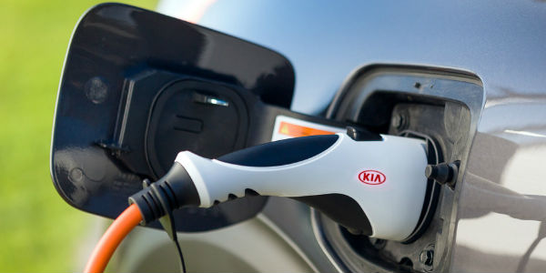 Close Up of 2018 Kia Niro Plug-In Hybrid Plug and Cord