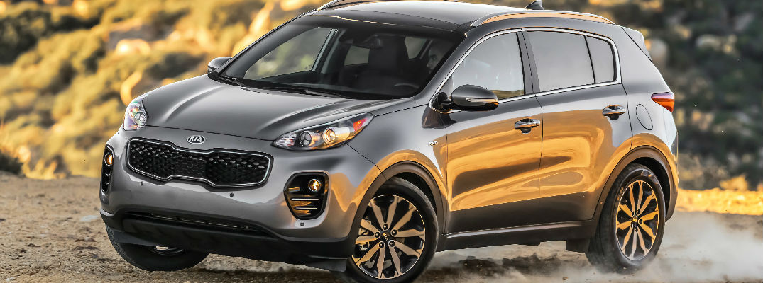 Gray 2018 Kia Sportage on Gravel Road