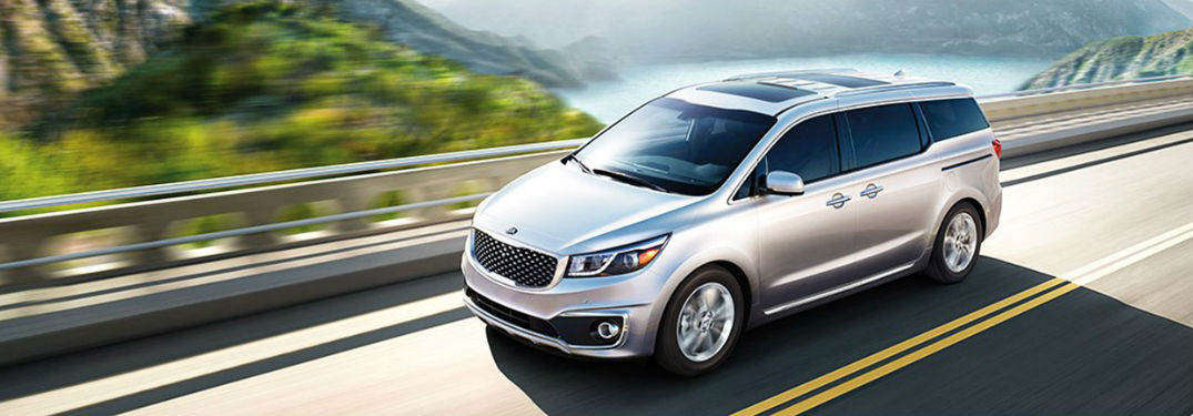2017 Kia Sedona model in silver