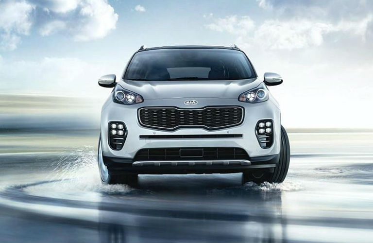 2018 Sportage in White Front Grille