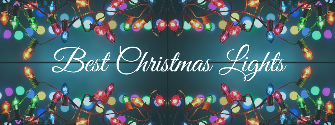 Best Christmas Lights banner with festive border