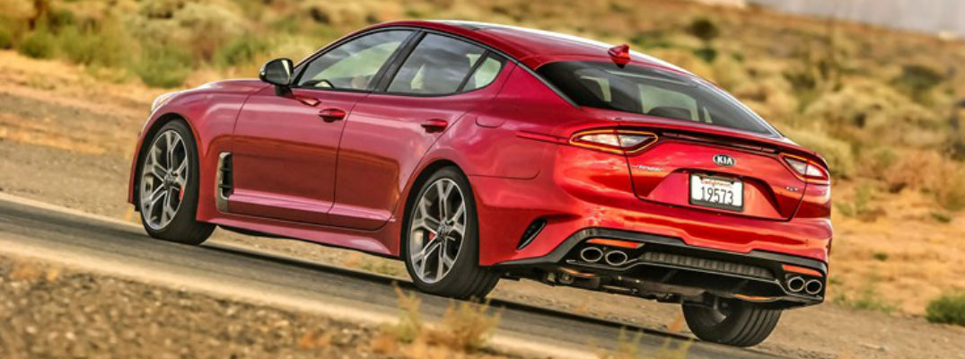 2018 Kia Stinger Red Exterior Rear View