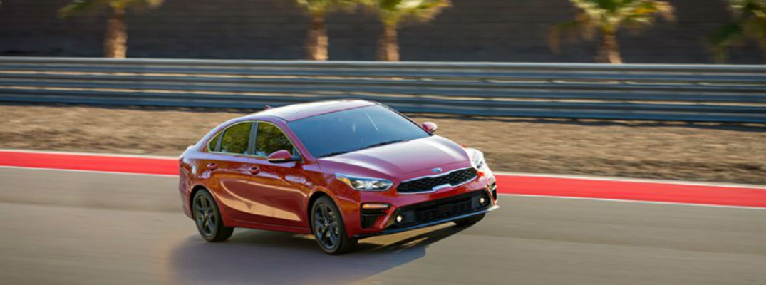 2019 Kia Forte Diagonal View of Red Exterior