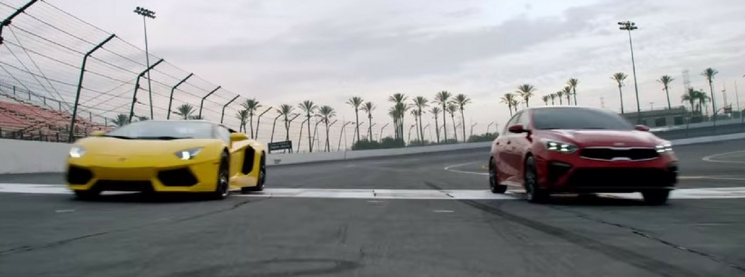 2019 Kia Forte vs Lamborghini Aventador Video Screenshot