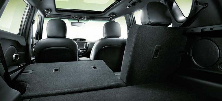 2018 Kia Soul with rear seats folded down