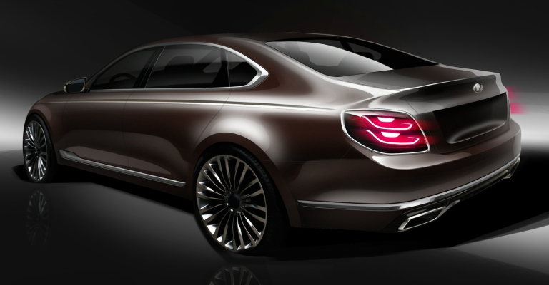 2019 Kia K900 concept back view