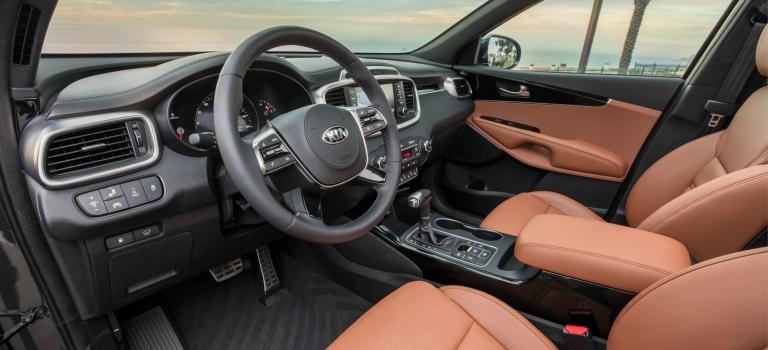 2019 Kia Sorento Interior With Brown Leather Seats