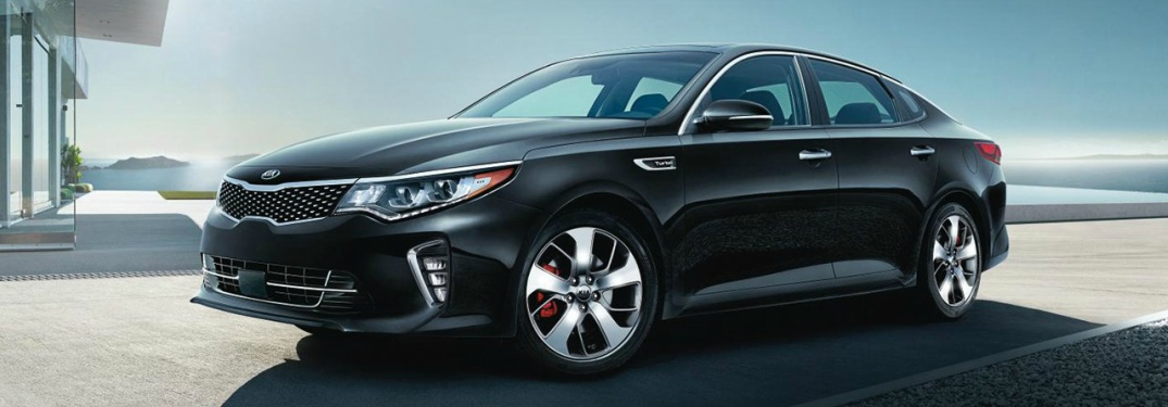 black 2018 Kia Optima front side view