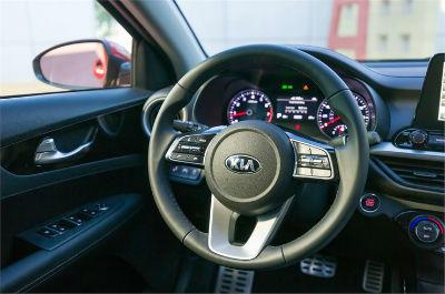 2019 Kia Forte interior front cabin steering wheel
