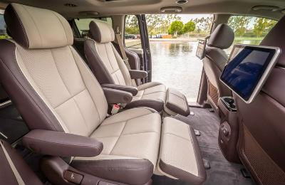 2019 Kia Sedona interior back cabin side view with door open