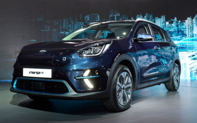 2019 Kia Niro EV exterior front fascia and drivers side