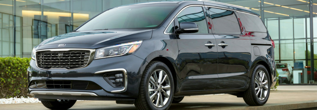 Exterior styling of the 2019 Kia Sedona