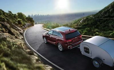 2019 Kia Sorento exterior back fascia drivers side pulling trailer