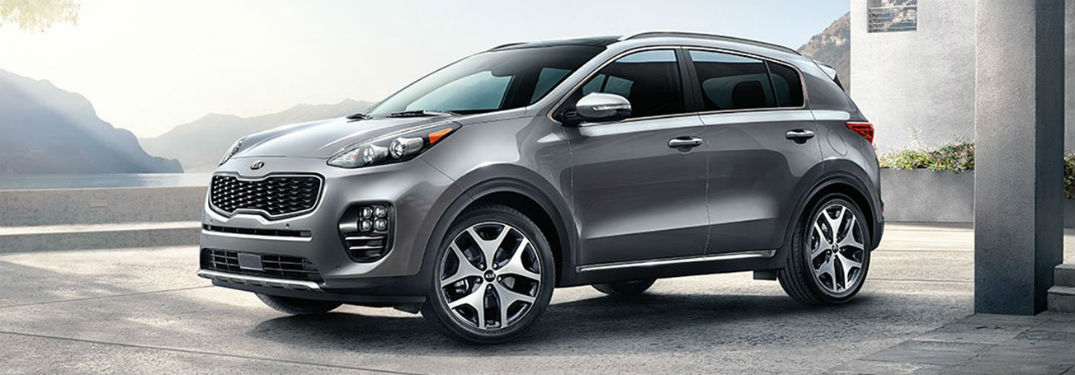 2019 Kia Sportage exterior front fascia and drivers side