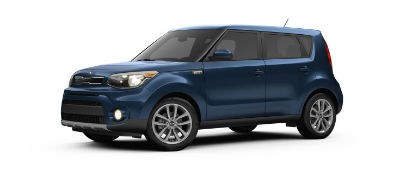mysterious blue 2019 Kia Soul exterior front fascia and drivers side