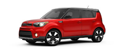 redblack 2019 Kia Soul exterior front fascia and drivers side