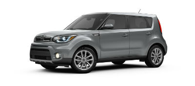 titanium gray 2019 Kia Soul exterior front fascia and drivers side