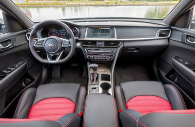 2019 Kia Optima interior seats steering wheel and dashboard