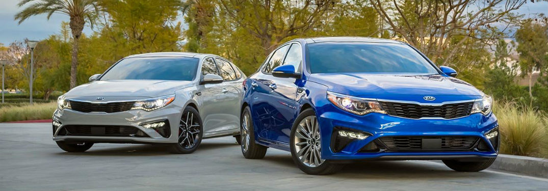 2019 Kia Optima exterior front fascia and drivers side front fascia and passenger side
