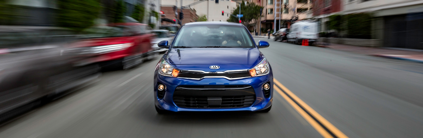 2018 Kia Rio front fascia and headlights