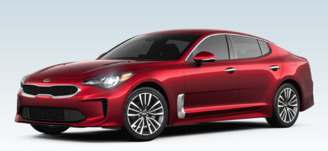 Moritz Kia Fort Worth >> 2019 Kia Stinger Exterior and Interior Color Choices ...