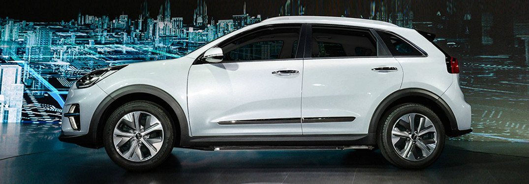 2019 Kia Niro EV exterior in white side profile