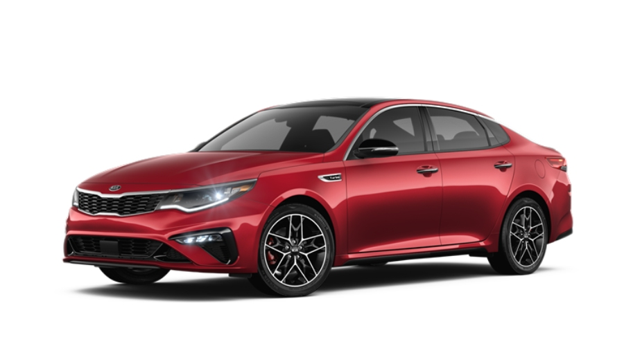 2019 Kia Optima in Passion Red