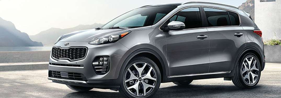 2019 Kia Sportage in grey side profile