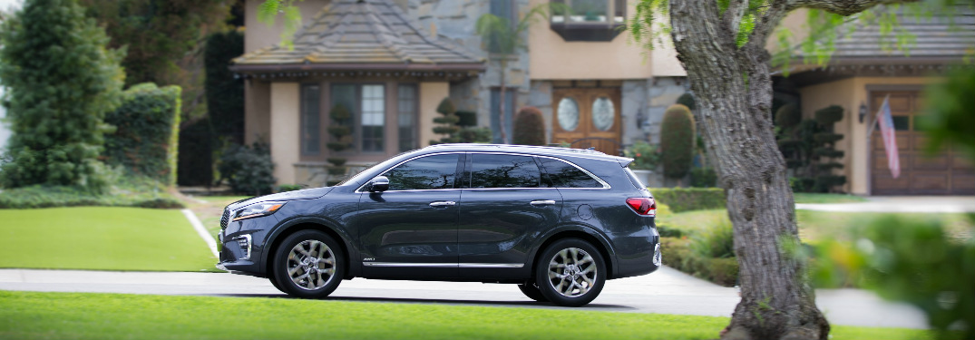 2019 Kia Sorento driving on a residential street