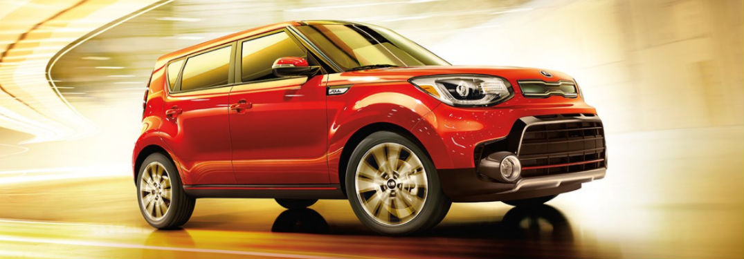 2017 Kia Soul exterior in red