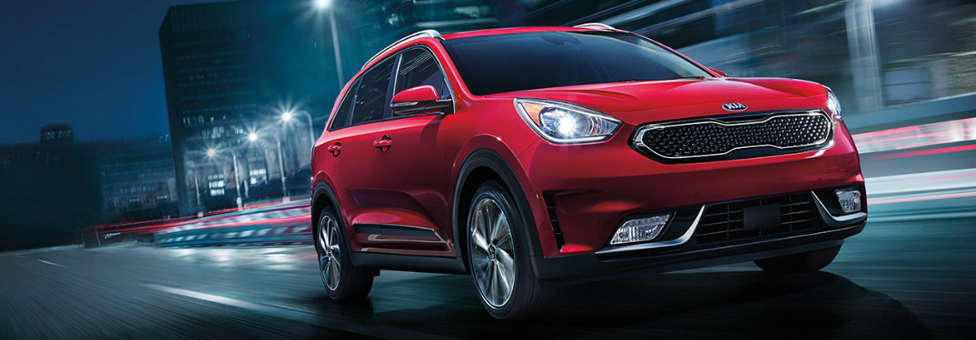 2019 Kia Niro exterior in Runway Red
