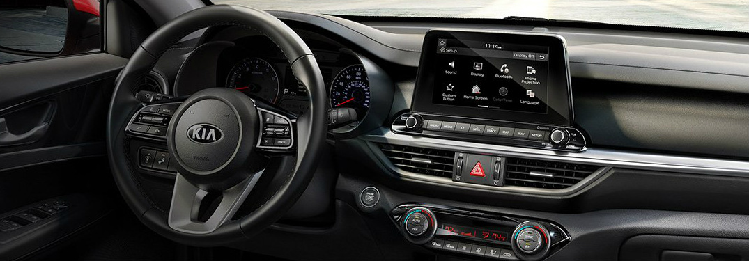 2019 Kia Forte dashboard and touchscreen display