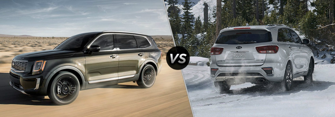 How do the Kia Telluride and Kia Sorento SUVs compare?