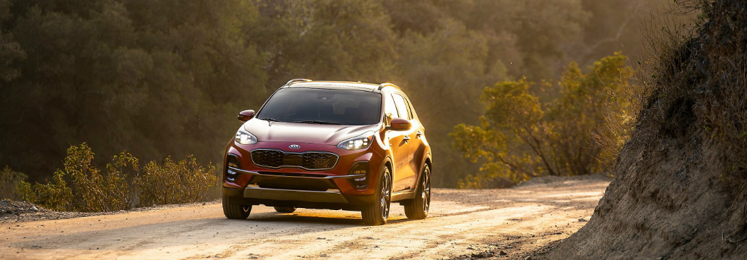 2020 Kia Sportage driving on a dirt road