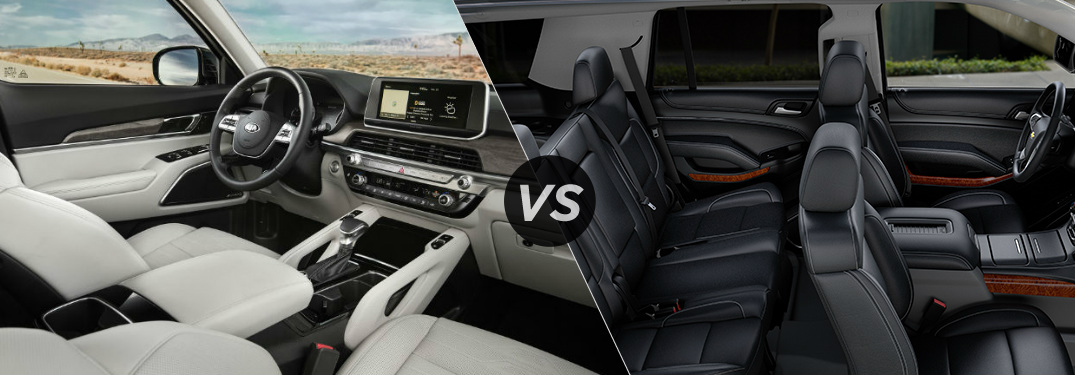 Does the Kia Telluride or Chevy Tahoe have a larger interior cabin?