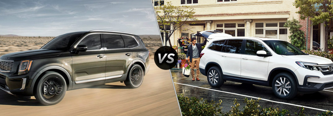 Who makes a better three-row SUV - Kia or Honda?