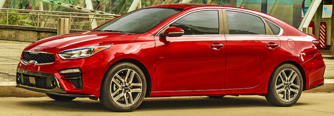 2020 Kia Forte in red