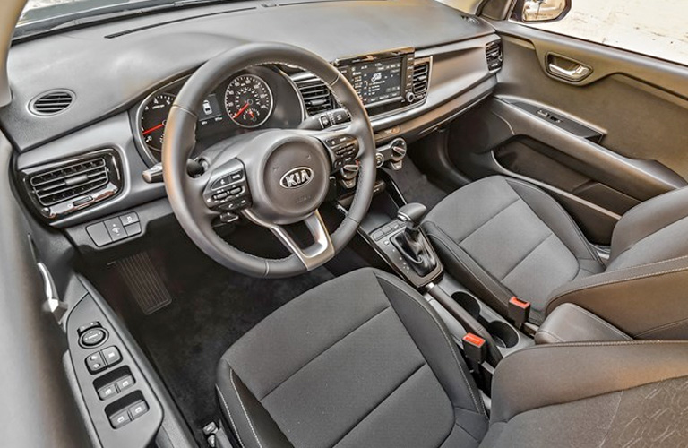 2020 Kia Rio Steering Wheel and Front Seats
