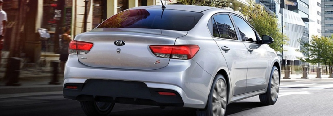 2020 Kia Rio going down the road