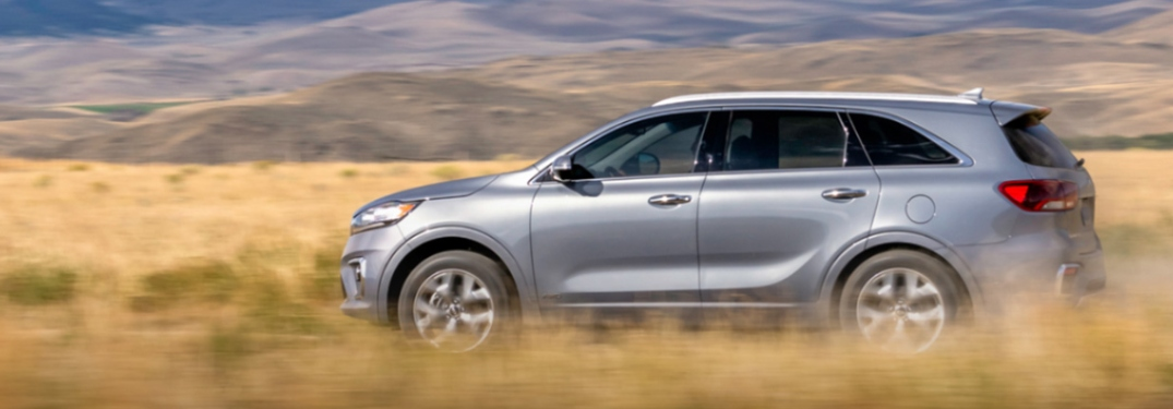 2020 Kia Sorento frolicking through a field