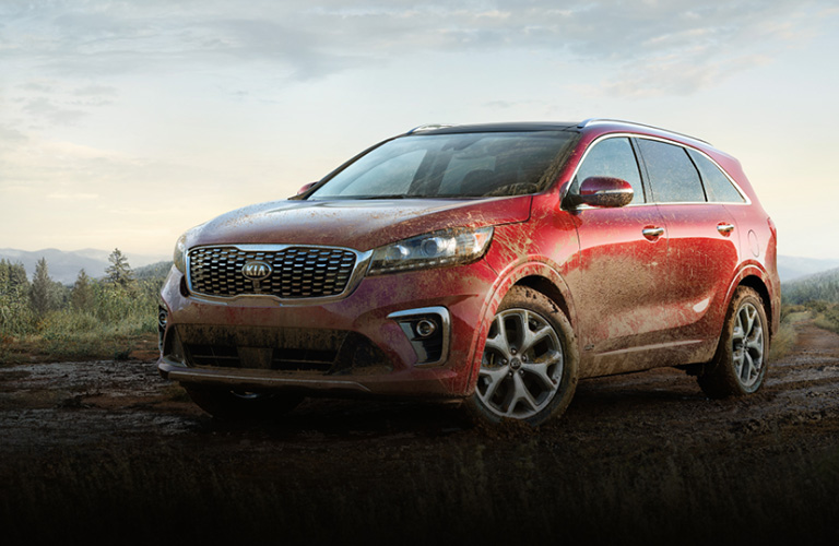 2020 Kia Sorento parked after playing in the mud