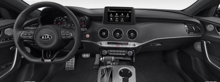 2020 Kia Stinger Black Leather Interior