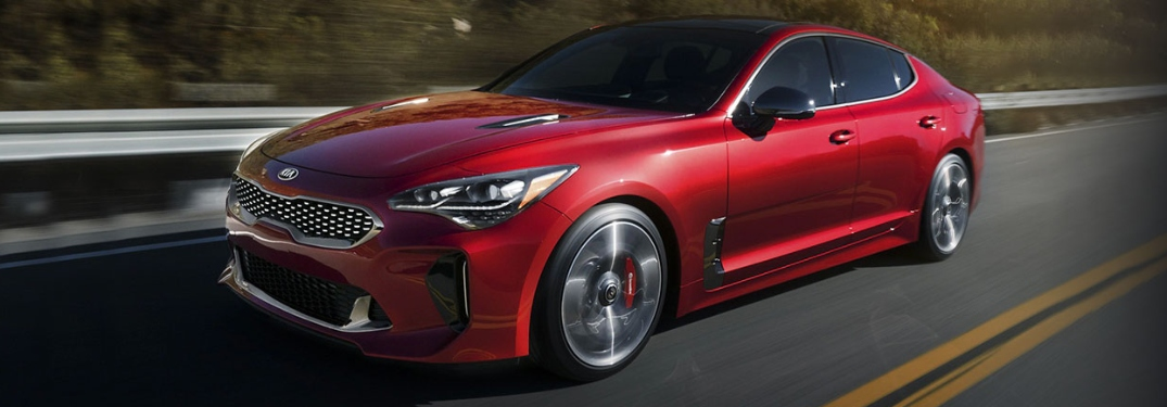 2020 Kia Stinger driving down the road