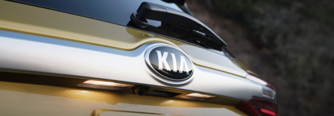 2021 Kia Seltos back end emblem
