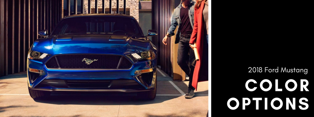 2018 Ford Mustang color options