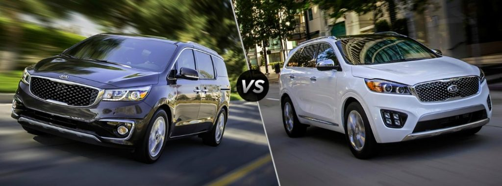 Comparing The 2016 Kia Sedona To The 2016 Kia Sorento