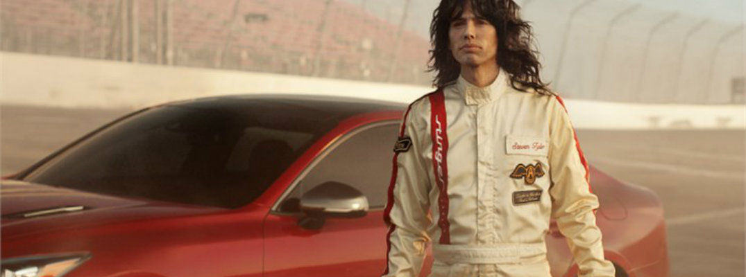 Aerosmith front man Steven Tyler with 2018 Kia Stinger