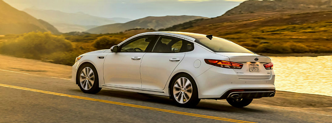 2018 Kia Optima driving on a road