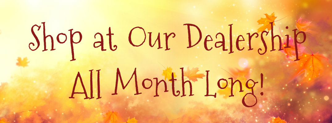 Shop at Our Dealership All Month Long!