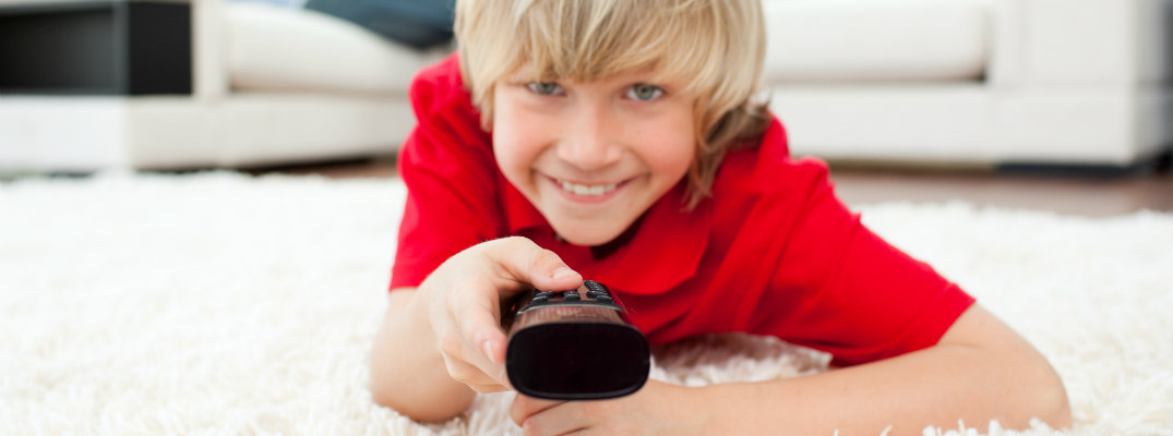 Boy with remote